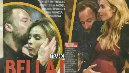 Francesco Facchinetti accarezza il pancione di Wilma e festeggia per Belli di papà