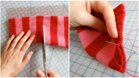 Taglia un maglione: quello che realizza è davvero originale