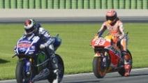 MotoGp, Lorenzo in pole a Valencia, Rossi scivola alla curva 8