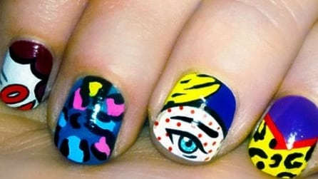 Pop art manicure