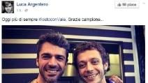"""""""Valentino Rossi vero campione del MotoGp"""", le reazioni dei vip"""