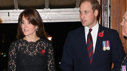 Il look total black di Kate Middleton
