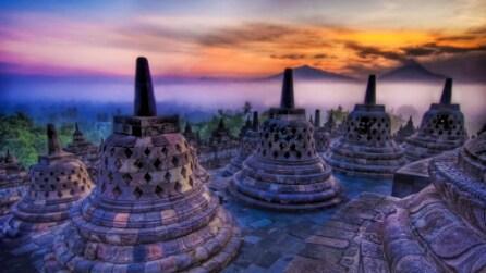 La maestosa bellezza del Tempio di Borobudur, Indonesia