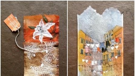 L'arte di Ruby Silvious: quando le bustine di tè diventano opere artistiche