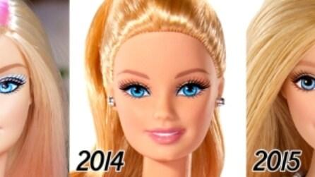 Com'è cambiato il look di Barbie in 56 anni