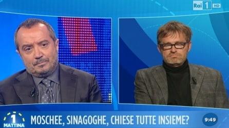 Lite tra Filippo Facci e Franco Di Mare a Uno Mattina