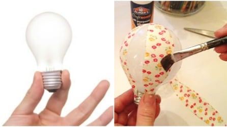 Ecco cosa può diventare una vecchia lampadina: i ricicli creativi