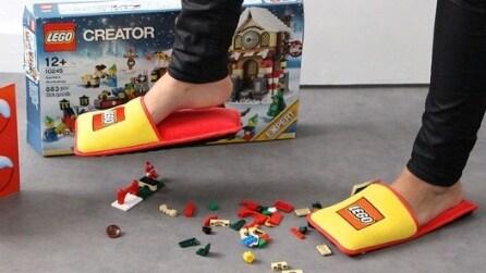 Le pantofole Lego per calpestare i mattoncini senza dolore!