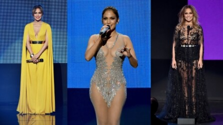 Da Jennifer Lopez a Kendall Jenner: i sexy nude look degli AMA 2015