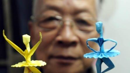 Cina, le ballerine di carta di Lu Jiagon: grande artista dell'origami