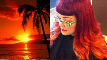 Tingi i tuoi capelli con i colori del tramonto