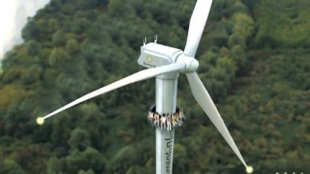 Benvenuti nel primo parco divertimenti su turbine eoliche
