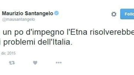 """""""L'Etna risolverebbe i problemi dell'Italia"""", il tweet del senatore Santangelo scatena le polemiche"""