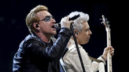 U2 in concerto a Parigi dopo gli attentati di Parigi