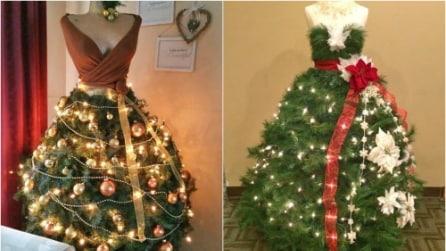 Come realizzare un albero di Natale sul manichino