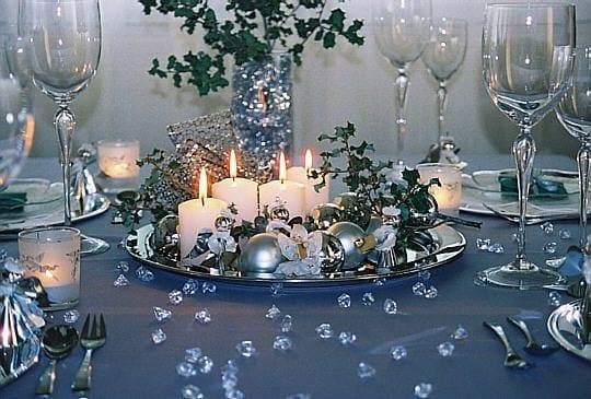 Tavola di Natale blu