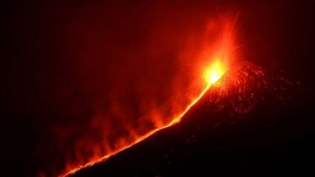 La spettacolare eruzione dell'Etna