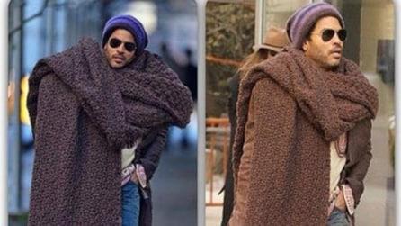 Coperte di lana al posto della sciarpe: l'ultima tendenza invernale