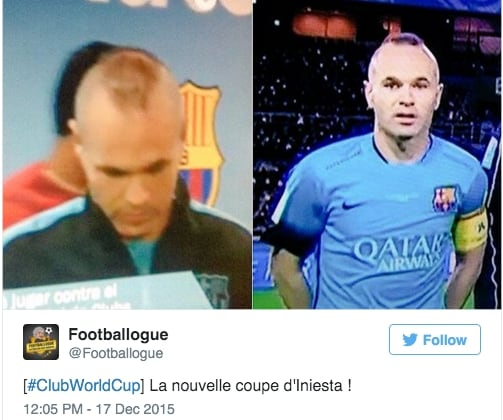 Mondiale per Club, l'ironia sui capelli di Iniesta: tra ...