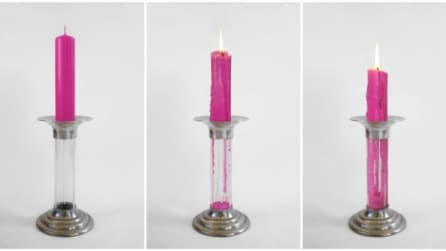La candela che dura il doppio: ecco come riutilizzarla