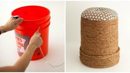 Come trasformare un secchio in un originale sgabello