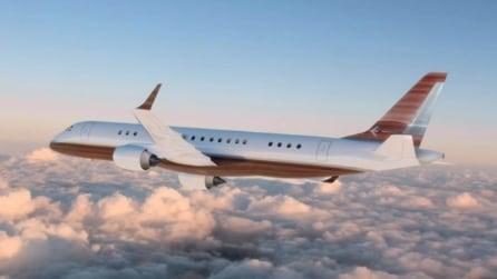 All'interno del jet privato più lussuoso al mondo