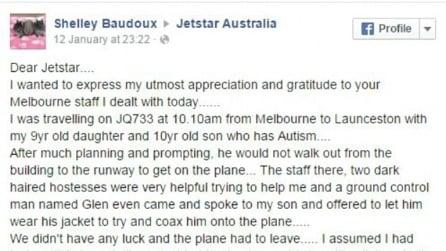 La commovente lettera della mamma di un bambino autistico alla compagnia aerea