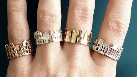 Giro del mondo sulle dita di una mano con gli anelli di Ola Shekhtman