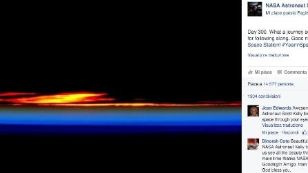 Un tramonto mozzafiato che nessuno mai ha visto, la foto di Scott Kelly