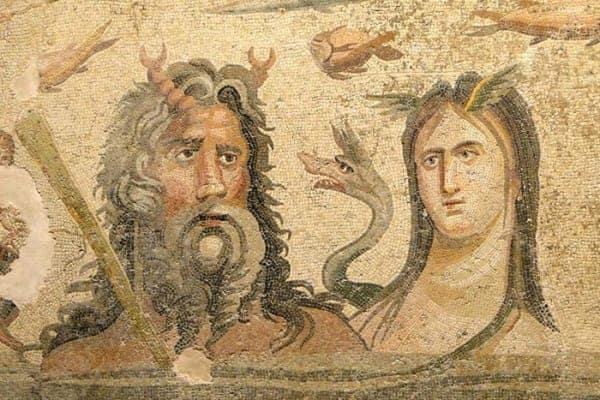 Le divinità dell'oceano, Oceano e Teti.
