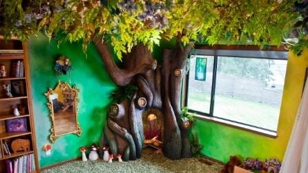 Impiega 18 mesi per trasformare la camera della figlia in un luogo incantato