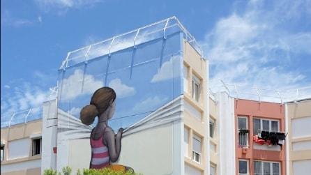 Noiosi edifici diventano opere d'arte: ecco la street art di Seth