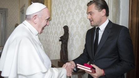 Papa Francesco incontra Leonardo DiCaprio