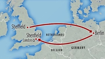 Da Sheffield a Londra il treno è costoso: per risparmiare, arriva a Berlino in aereo e ritorna