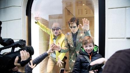 Ben Stiller e Owen Wilson nelle vetrine dell'atelier Valentino a Roma