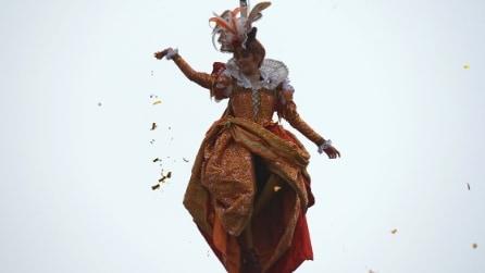 Il Volo dell'Angelo e l'inizio del Carnevale di Venezia 2016