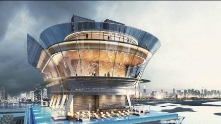 La piscina più alta e mozzafiato al mondo: benvenuti sulla nuova Palm Tower di Dubai
