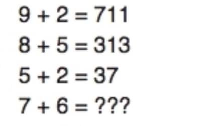 Quanto fa 7+6? Rispondi e scopri se hai un QI superiore a 150