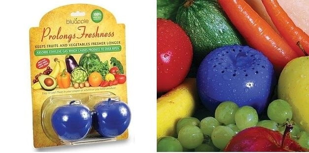 Queste mele assorbono il gas etilene che fa maturare la frutta e la verdura garantendo loro di restare fresche più a lungo.