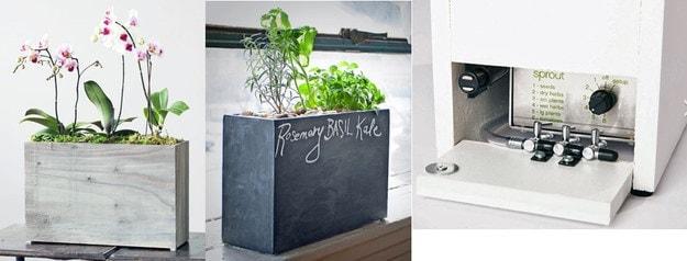 È un vaso autoirrigante con un sistema dosatore dell'acqua per le piante.