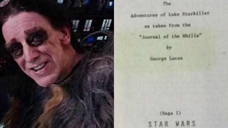 Star Wars, Chewbacca pubblica la sceneggiatura originale del primo film