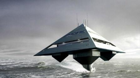 Ecco il futuro della navigazione: un super yacht che sembra un'astronave
