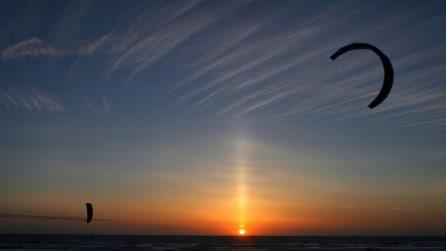 Light Pillar, la magia dei pilastri luminosi nel cielo