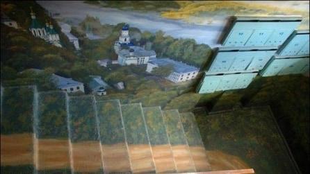 Trasforma le scale di casa in paesaggi ameni: difficile pensare si tratti di un edificio