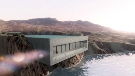 Aqua casa: ecco l'incredibile abitazione nella scogliera del Marocco