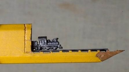 Una comune matita diventa un'incredibile scultura in miniatura: il risultato vi stupirà