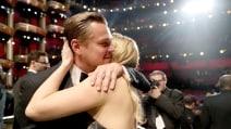 L'emozione di Kate Winslet per l'Oscar di Leonardo DiCaprio