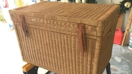 Prende una cesta e la trasforma in modo geniale: ecco cosa diventa