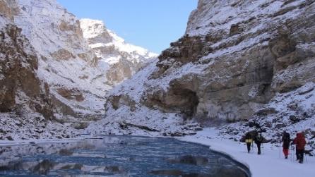 Trekking estremo sul fiume ghiacciato di Zanskar
