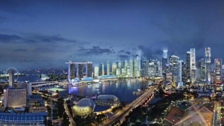 "Singapore di luci e colori con ""I light Marina Bay"""